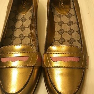 Gucci bronze loafers(new)